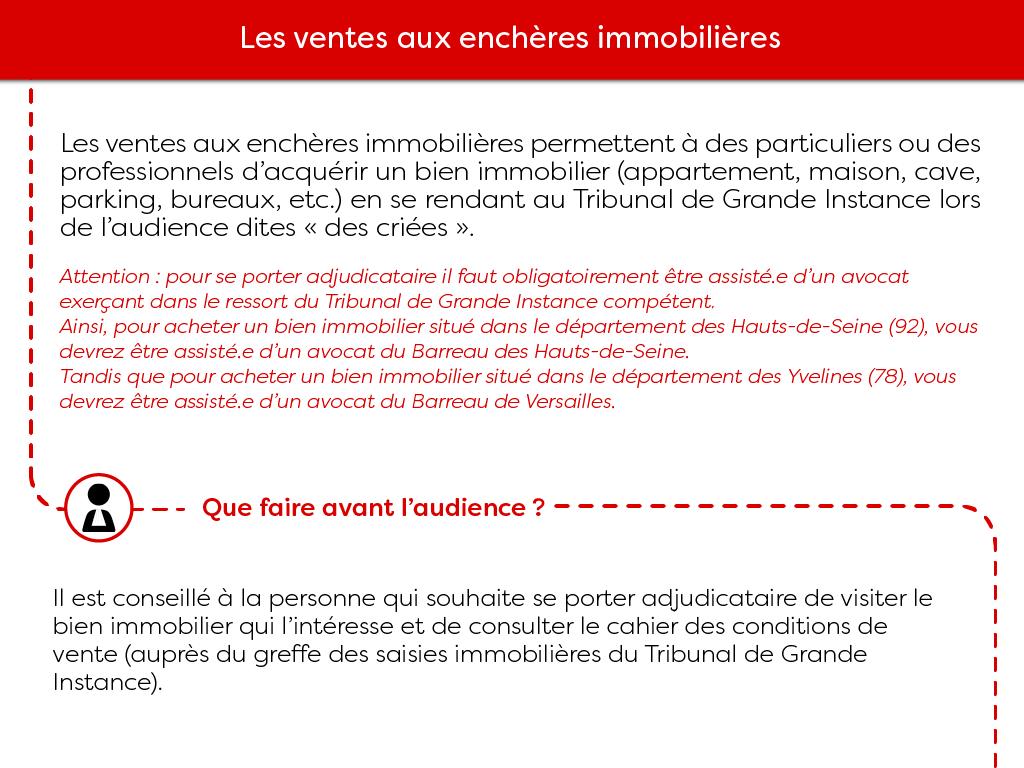 Vente aux enchères immobilières Versailles